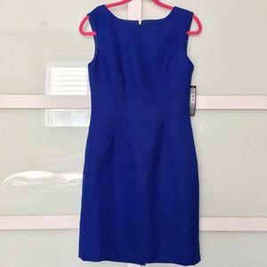 NWT's Vibrant Blue Tahari Sheath Dress Size 4